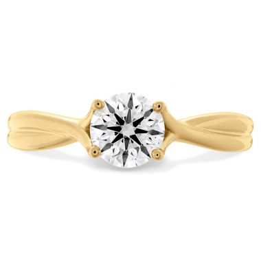 Hearts on Fire 0.33 ctw. Simply Bridal Twist Solitaire Engagement Ring in 18K Yellow Gold