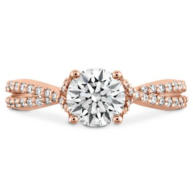 Hearts on Fire 0.22 ctw. Simply Bridal Diamond Intensive Twist Semi Mount in 18K Rose Gold