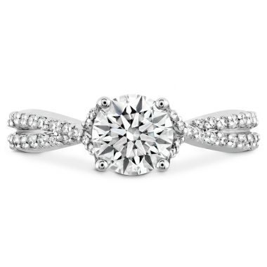Hearts on Fire 0.22 ctw. Simply Bridal Diamond Intensive Twist Semi Mount in 18K White Gold