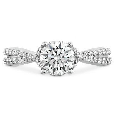 Hearts on Fire 0.22 ctw. Simply Bridal Diamond Intensive Twist Semi Mount in Platinum