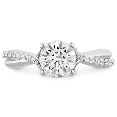 Hearts on Fire 0.1 ctw. Simply Bridal Diamond Twist Semi Mount in 18K White Gold