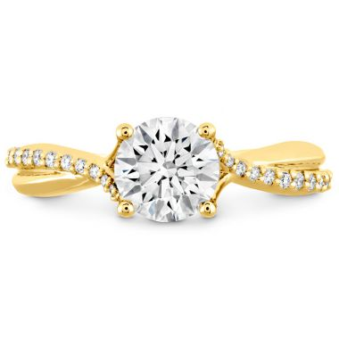 Hearts on Fire 0.1 ctw. Simply Bridal Diamond Twist Semi Mount in 18K Yellow Gold