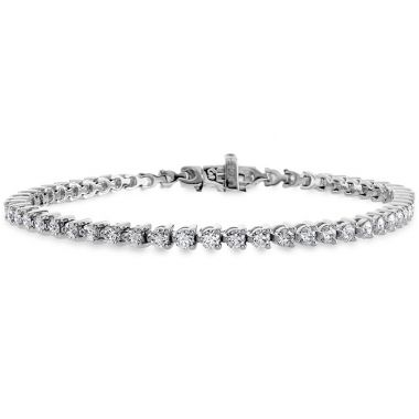 Hearts on Fire 3.25 ctw. Temptation Three-Prong Bracelet in 18K White Gold