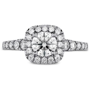 Hearts on Fire 0.69 ctw. Transcend Premier Custom Halo Engagement Ring in 18K White Gold