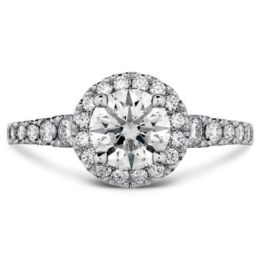 Hearts on Fire 0.55 ctw. Transcend Premier HOF Halo Engagement Ring in 18K White Gold