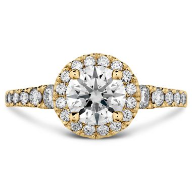 Hearts on Fire 0.45 ctw. Transcend Premier HOF Halo Engagement Ring in 18K Yellow Gold