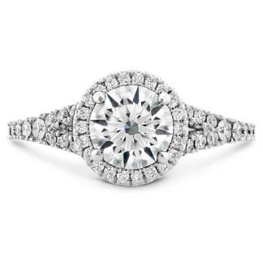 Hearts on Fire 0.4 ctw. Transcend Premier HOF Halo Split Shank Engagement Ring in 18K White Gold