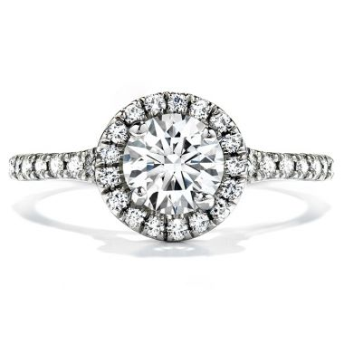 Hearts on Fire 0.5 ctw. Transcend Engagement Ring in 18K White Gold