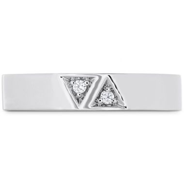 Hearts on Fire 0.03 ctw. Triplicity Triangle Double Diam Band 4mm in 18K White Gold