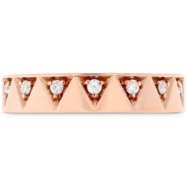 Hearts on Fire 0.1 ctw. Triplicity Triangle Multi Diam Band 4mm in 18K Yellow Gold