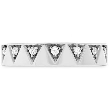 Hearts on Fire 0.1 ctw. Triplicity Triangle Multi Diam Band 4mm in 18K White Gold