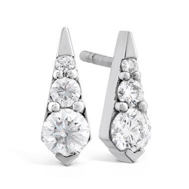 Hearts on Fire 0.4 ctw. Triplicity Drop Stud Earrings in 18K White Gold