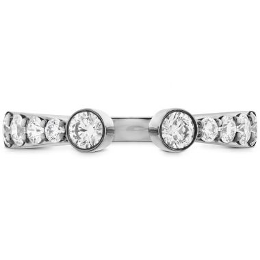 Hearts on Fire 0.71 ctw. Triplicity Open Bezel Band in 18K White Gold