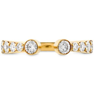 Hearts on Fire 0.71 ctw. Triplicity Open Bezel Band in 18K Yellow Gold