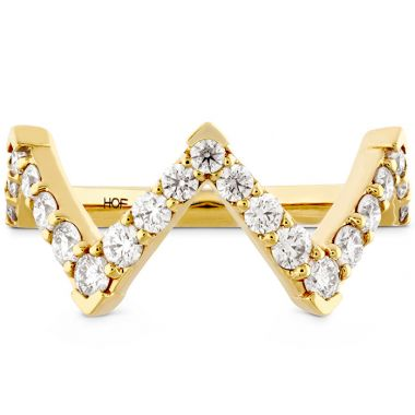 Hearts on Fire 0.7 ctw. Triplicity Pointed Diamond Ring in 18K Yellow Gold
