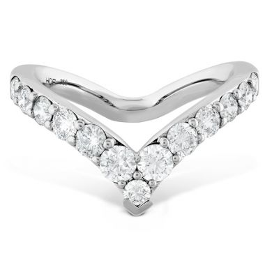 Hearts on Fire 0.78 ctw. Triplicity Single Pointed Ring in 18K White Gold