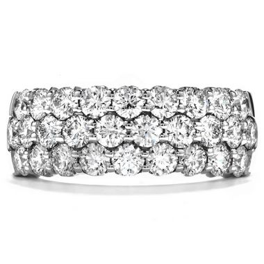 Hearts on Fire 1.65 ctw. Truly Triple Row Right Hand Ring in 18K White Gold