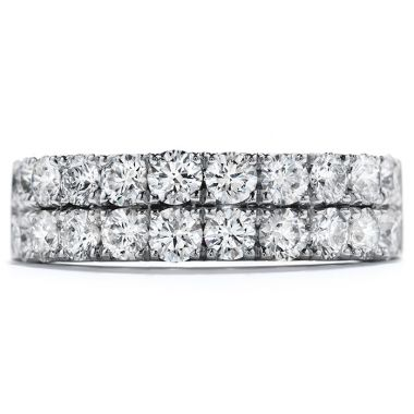 Hearts on Fire 1.5 ctw. Truly Classic Double-Row Wedding Band in 18K White Gold