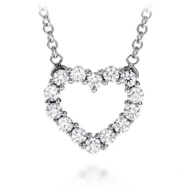 Hearts on Fire 0.35 ctw. Whimsical Heart Pendant Necklace in 18K White Gold