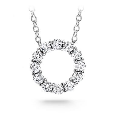 Hearts on Fire 0.3 ctw. Whimsical Mini Circle Pendant Necklace in 18K White Gold