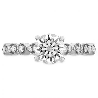 Hearts on Fire Platinum Straight Engagement Ring