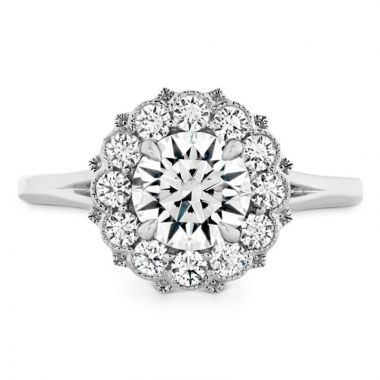 Hearts on Fire Platinum Liliana Halo Engagement Ring