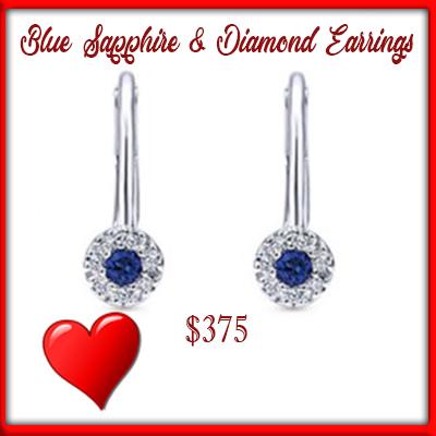 blue sapphire dangles